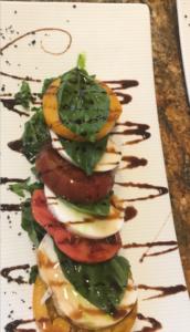 Buffalo Mozzarella Caprese with Summer Tomato, Ume Balsamic, Black Salt
